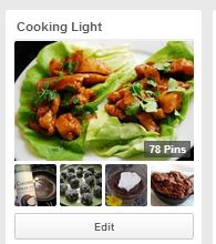 Pinterest Cooking light board