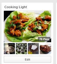 Pinterest Cooking light board