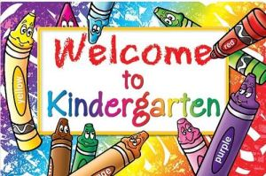 This is welcome to kindergarten graphic